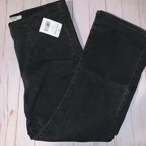 NWT Free People Ultra High Crop Pull on Jeans